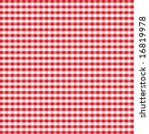 Gingham Check Pattern In Red...