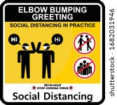 elbow bumping greeting  social... | Shutterstock .eps vector #1682031946