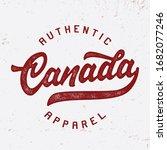 """canada"". vintage composition... | Shutterstock .eps vector #1682077246"