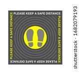please keep a safe distance. ...   Shutterstock .eps vector #1682079193