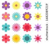 cute flower vector illustration ...   Shutterstock .eps vector #1682089219