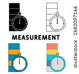 measurement icon set. outline...