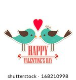 happy valentine's day lettering ... | Shutterstock .eps vector #168210998