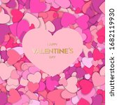 valentine day greeting card....   Shutterstock . vector #1682119930