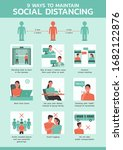 nine ways to maintain social... | Shutterstock .eps vector #1682122876