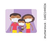 african american family with... | Shutterstock .eps vector #1682144026
