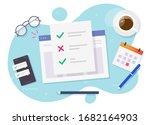 survey form online check list... | Shutterstock .eps vector #1682164903