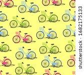 seamless pattern of green  blue ...   Shutterstock .eps vector #1682175133