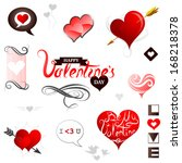 st. valentines day greeting... | Shutterstock .eps vector #168218378