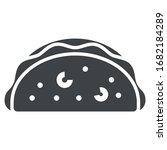 taco black icon on white...   Shutterstock .eps vector #1682184289