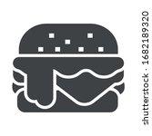 hamburger black icon on white...   Shutterstock .eps vector #1682189320