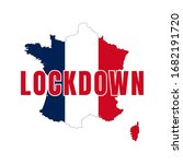 france map flag lock down... | Shutterstock .eps vector #1682191720