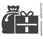 cristmas presents black icon...   Shutterstock .eps vector #1682192770
