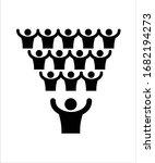 team unity flat icon vector... | Shutterstock .eps vector #1682194273