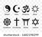 religious symbols icon set.... | Shutterstock .eps vector #1682198299