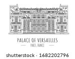 hand drawn famous landmark... | Shutterstock .eps vector #1682202796