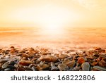 seascape with orange sky at... | Shutterstock . vector #168222806