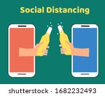 social distancing with covid 19 ... | Shutterstock .eps vector #1682232493