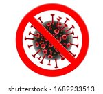 sign caution covid 19 stop...   Shutterstock .eps vector #1682233513