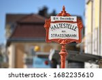 Station Sign Of The Traunsee...