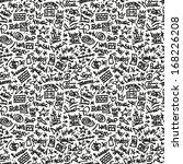 rap hip hop   seamless... | Shutterstock .eps vector #168226208