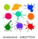 set of cartoon blots and... | Shutterstock .eps vector #1682277019