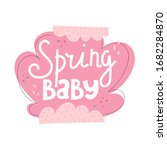 Spring Baby. Hand Drawing...