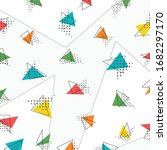 abstract triangle pattern... | Shutterstock .eps vector #1682297170