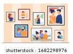 family portrait pictures in... | Shutterstock .eps vector #1682298976