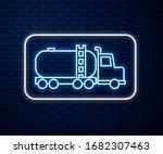 glowing neon line tanker truck... | Shutterstock .eps vector #1682307463