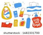 personal hygiene set. liquid... | Shutterstock .eps vector #1682331700