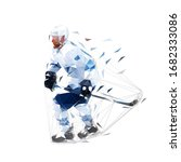 ice hockey player  isolated low ... | Shutterstock .eps vector #1682333086