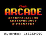 retro style arcade games font ... | Shutterstock .eps vector #1682334010