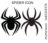 spider icon. set of the spider... | Shutterstock .eps vector #1682335570