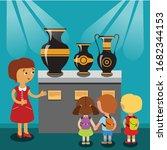 exhibition little visitors...   Shutterstock .eps vector #1682344153
