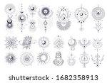 vector illustration set of moon ...   Shutterstock .eps vector #1682358913