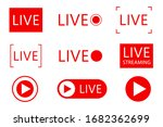 set of live streaming icons.... | Shutterstock .eps vector #1682362699