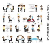 business peoples   isolated on... | Shutterstock .eps vector #168237593
