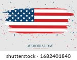 memorial day banner. background ... | Shutterstock .eps vector #1682401840