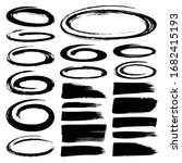 set of black marker text... | Shutterstock .eps vector #1682415193