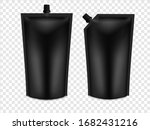realistic 3d black blank doy... | Shutterstock .eps vector #1682431216