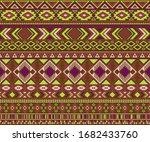 navajo american indian pattern... | Shutterstock .eps vector #1682433760