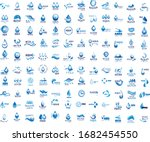 water splash vector and drop... | Shutterstock .eps vector #1682454550