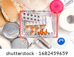 Shopping Basket With Medicines  ...