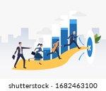 businesspeople running to...   Shutterstock . vector #1682463100