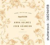 vintage vector wedding card... | Shutterstock .eps vector #168246458