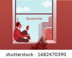 2019 ncov quarantine. man... | Shutterstock .eps vector #1682470390