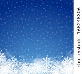 blue christmas background | Shutterstock .eps vector #168248306