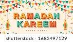 ramadan kareem concept banner... | Shutterstock .eps vector #1682497129