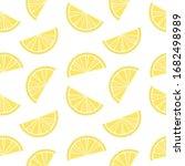 Fresh Lemon On White Background....